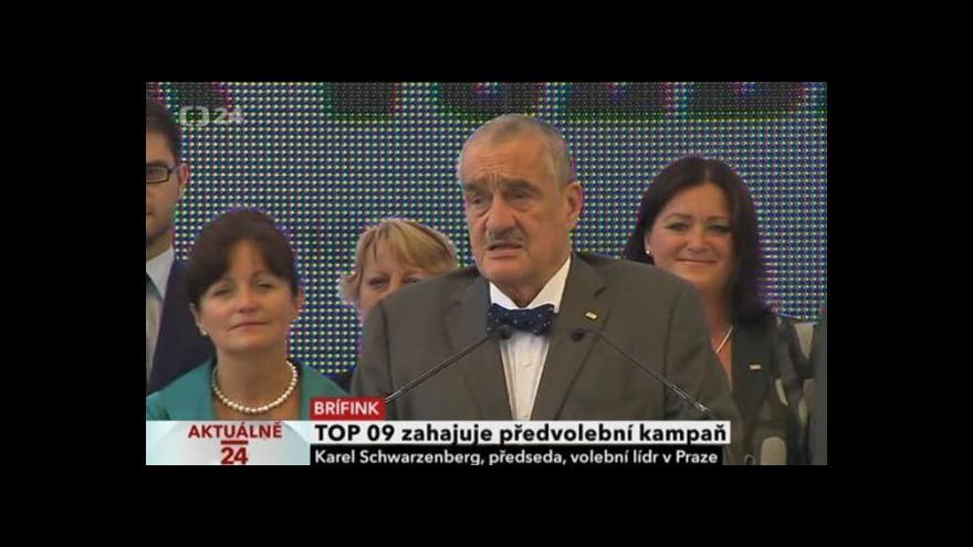 Video TOP 09 zahajuje předvolební kampaň