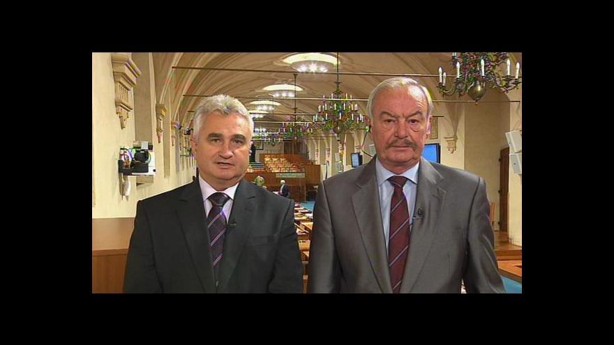 Video Milan Štěch a Přemysl Sobotka o věcech schvalovaných v Senátu
