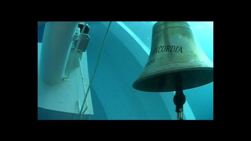 Video Costa Concordia se vrátí zpátky na hladinu