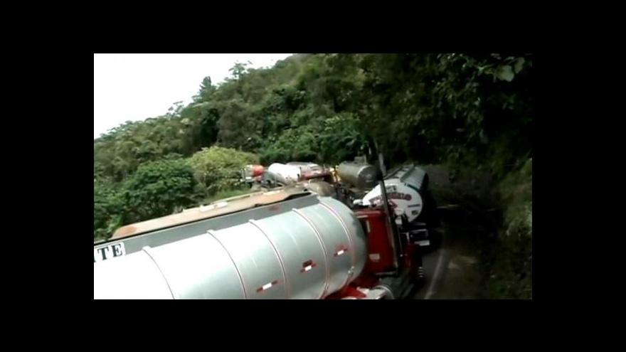 Video Protesty zemědělců v Kolumbii neutichají
