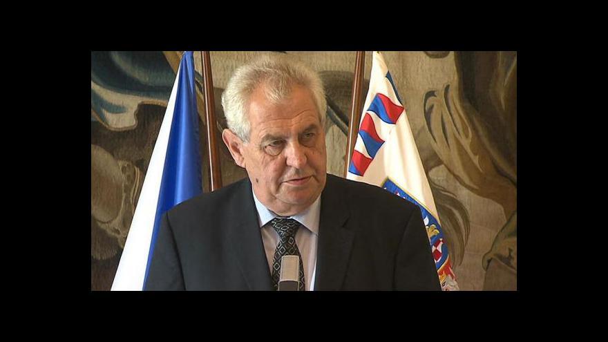Video Události: Zeman k restitucím a ústavnímu soudci
