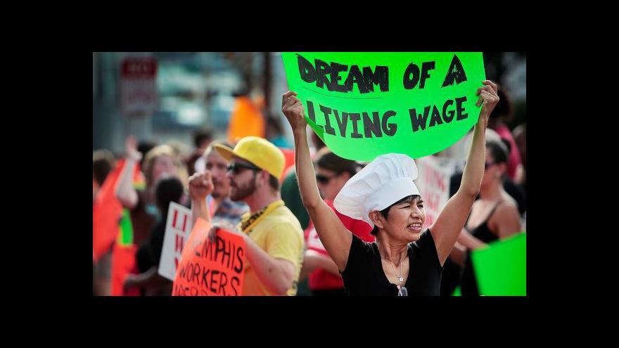 Video Stávka amerických fast foodů