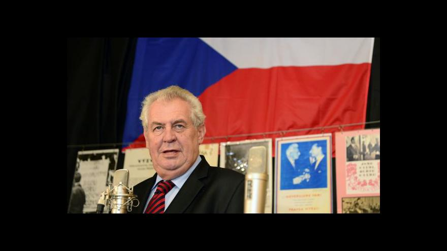 Video Vyjádření Miloše Zemana