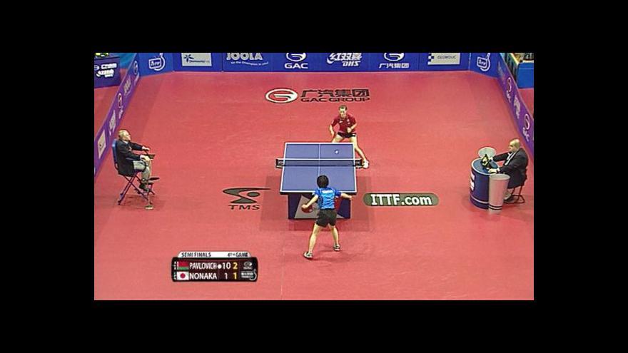 Video Semifinálové boje žen na Czech Open ve stolním tenise