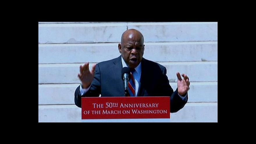 Video Ve Washingtonu se vzpomínalo na projev Martina Luthera Kinga