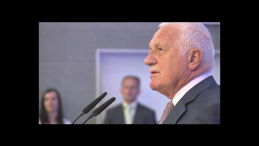 Video Události o Václavu Klausovi