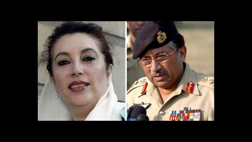 Video Mušarafa obvinili v kauze vraždy Bhuttové