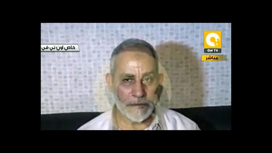 Video V Egyptě zadrželi vůdce Muslimského bratrstva