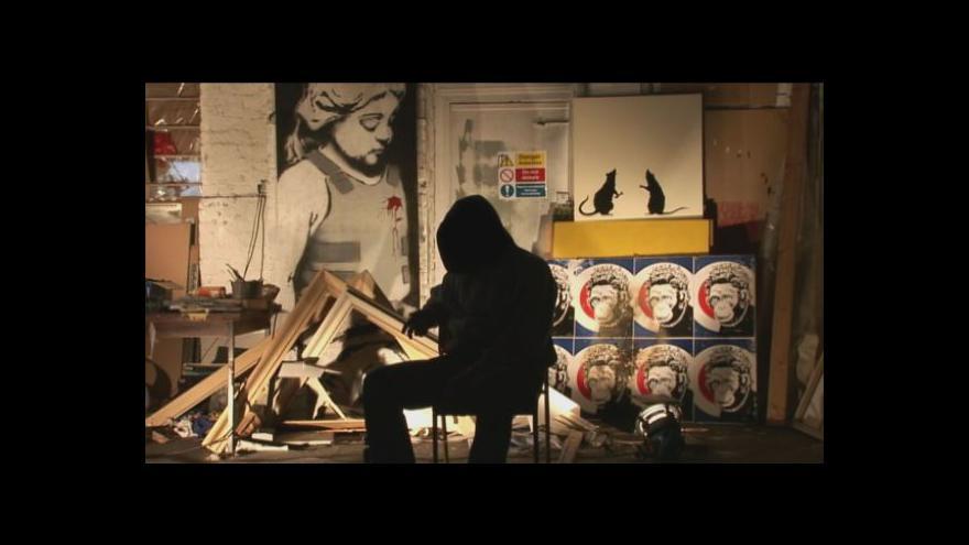 Video Banksyho Květinová dívka jde do dražby
