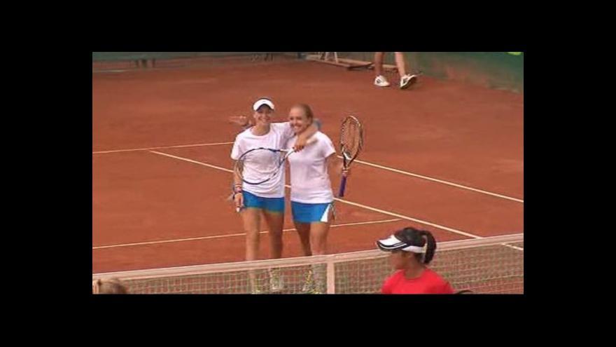 Video České tenistky do 14 let získaly na světovém šampionátu v Prostějově bronz