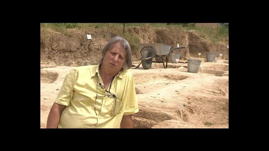 Video Vedoucí archeologického výzkumu Bohuslav Klíma o nálezu