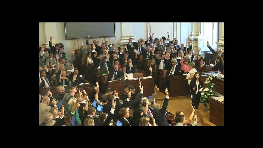 Video Dění kolem hlasování o návrhu na rozpuštění sněmovny