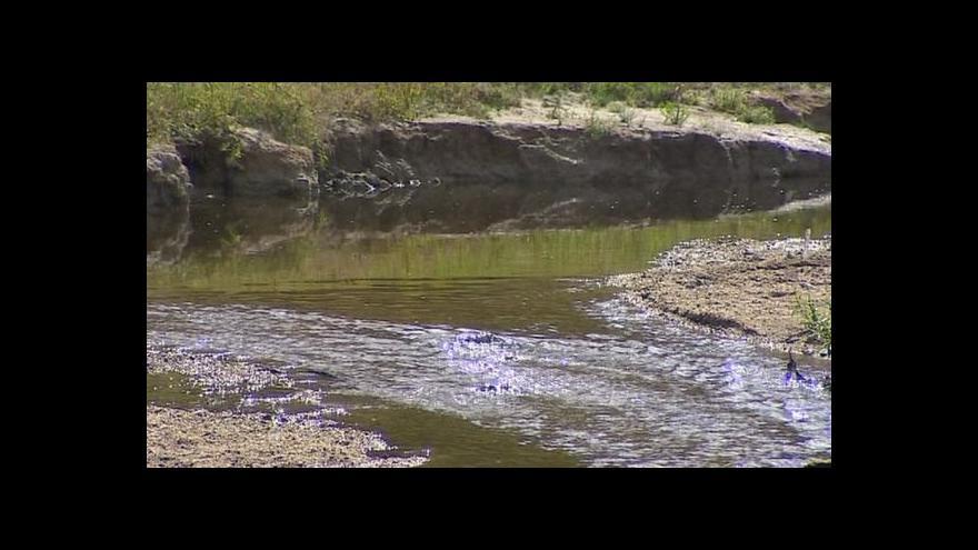 Video Rybník Komorník letos zůstal bez vody