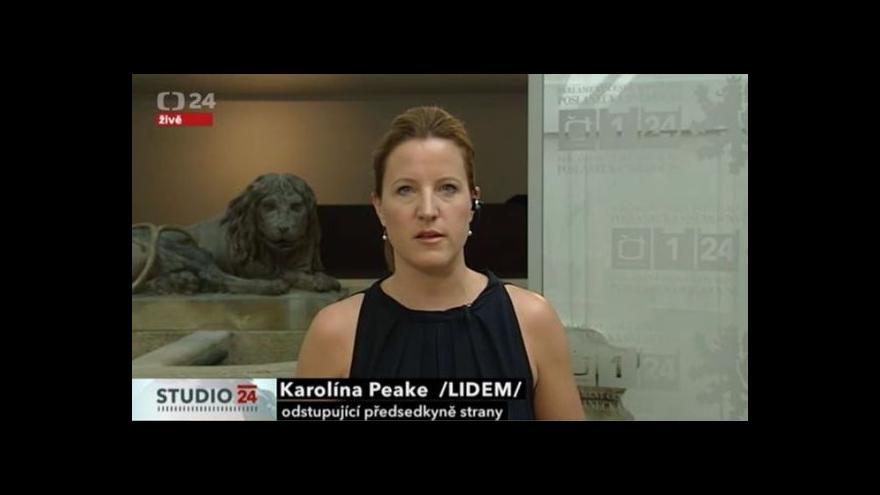 Video Vyjádření Karolíny Peake