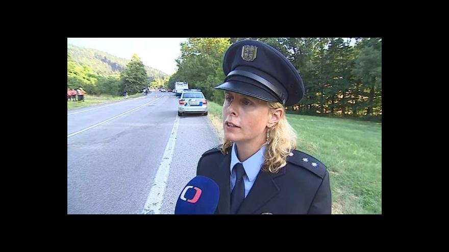 Video O nehodě hovoří policejní mluvčí Iva Šebková