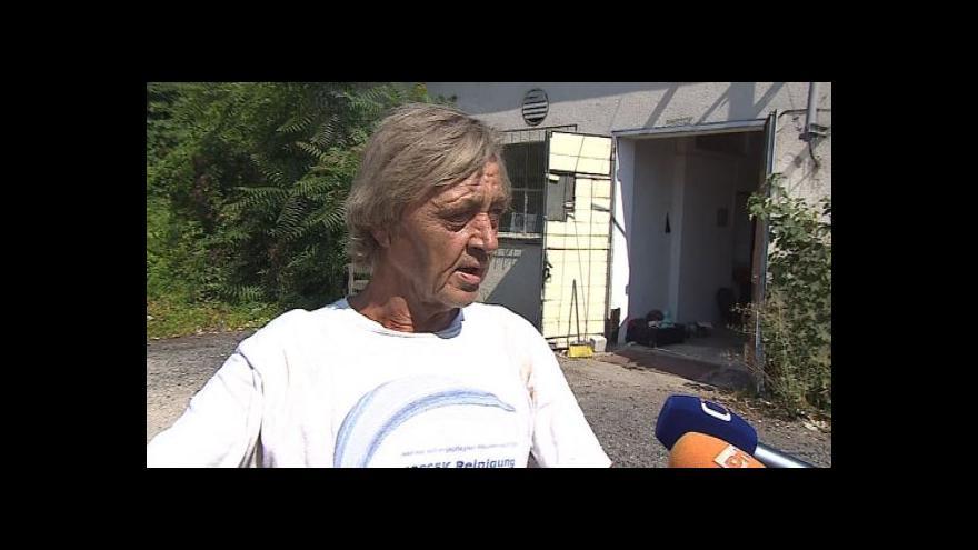 Video Hovoří Jaroslav Navrátil, správce objektu, kde se muž skrýval