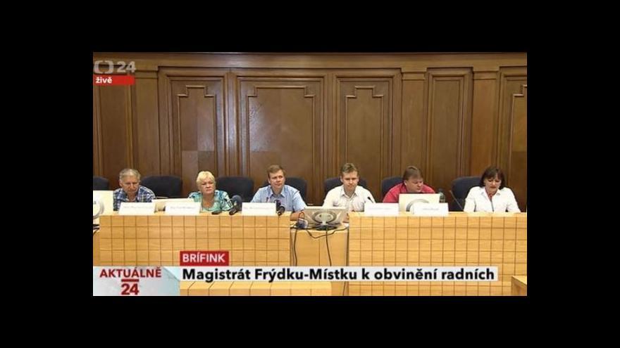 Video Brífink magistrátu města Frýdek-Místek k obvinění z předražování veřejných zakázek