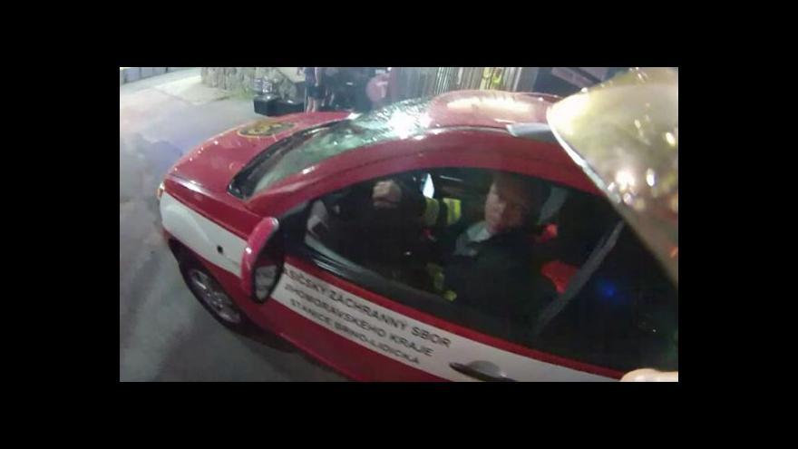 Video Záběry hasičů z nehody na stadionu