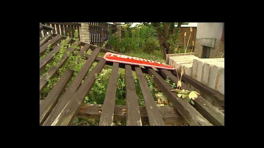 Video Následky víkendových bouří