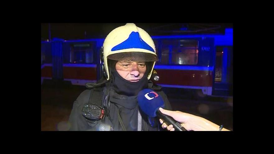 Video Velitel hasičů Milan Norek o požáru tramvaje