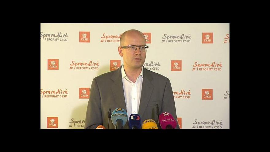 Video Brífink ČSSD k programovému prohlášení vlády