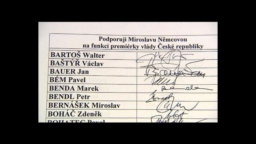 Video Události o sčítání sněmovních sil