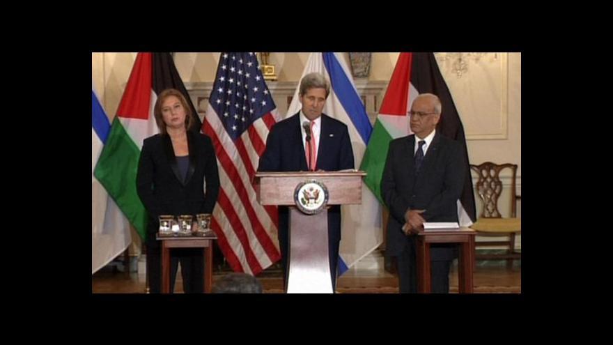 Video Pokračují izraelsko-palestinské rozhovory