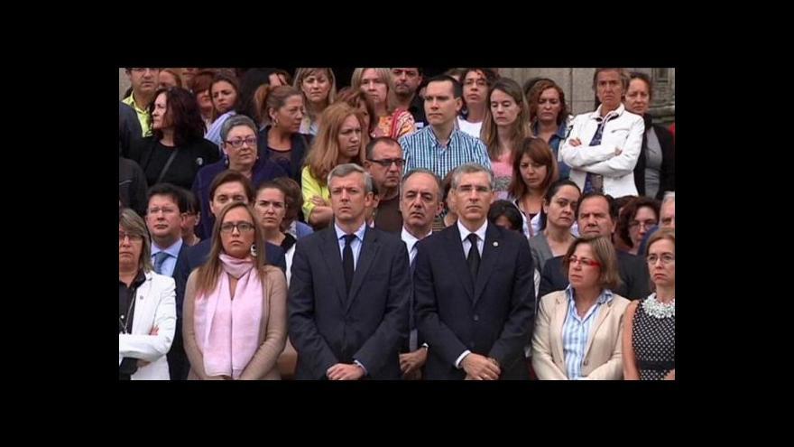 Video Španělsko drželo minutu ticha