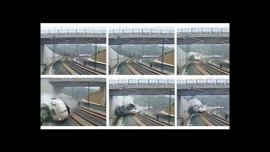 Video Události, komentáře k železničnímu neštěstí ve Španělsku