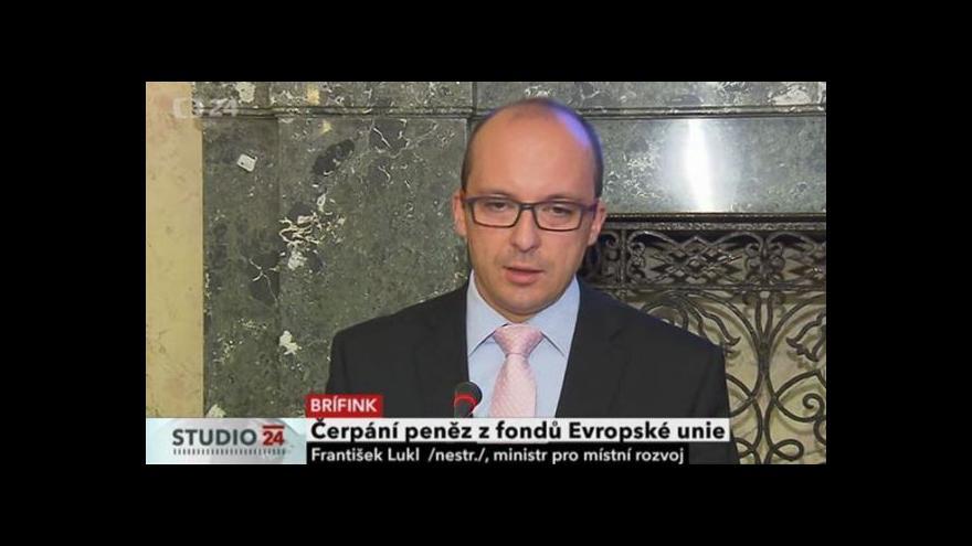 Video Brífink ministra pro místní rozvoj k čerpání peněz z EU