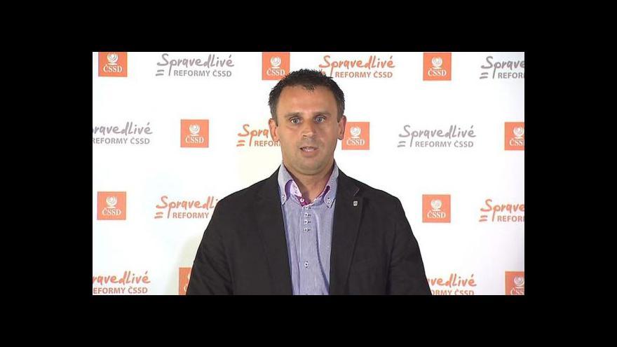 Video Brífink ČSSD k jednání vlády