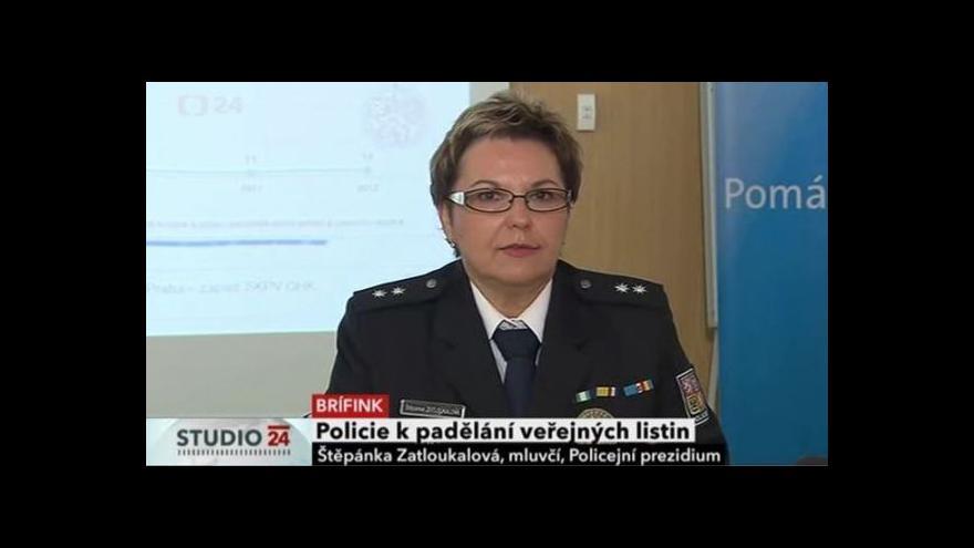 Video Policie k padělání veřejných listin