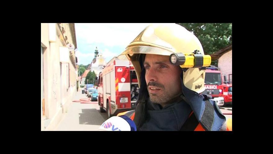 Video O požáru v Kollárově ulici hovoří mluvčí hasičů Jaroslav Mikoška