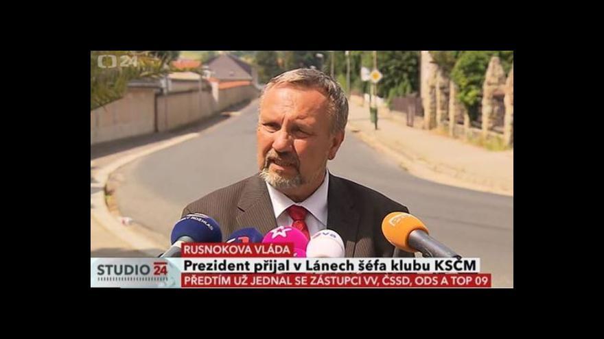 Video Pavel Kováčik po jednání v Lánech