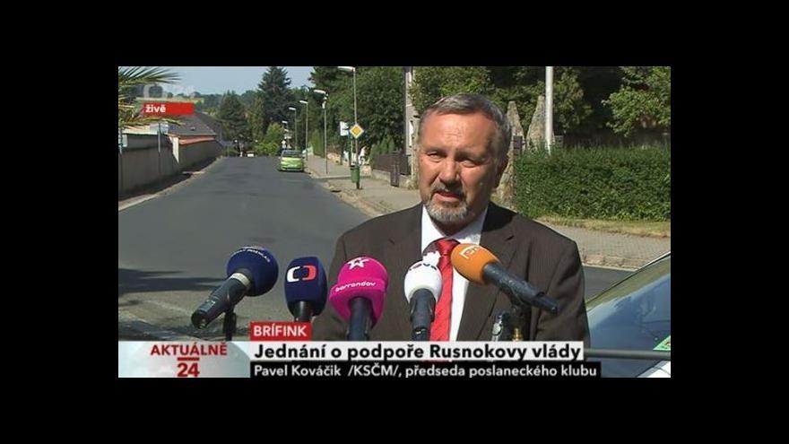 Video Předseda klubu KSČM před jednáním s prezidentem Zemanem