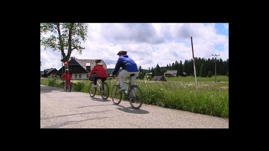 Video Další část cyklostezky napříč Šumavou