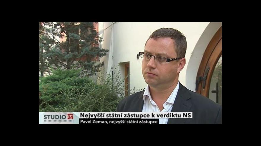 Video Nejvyšší státní zástupce k verdiktu NS