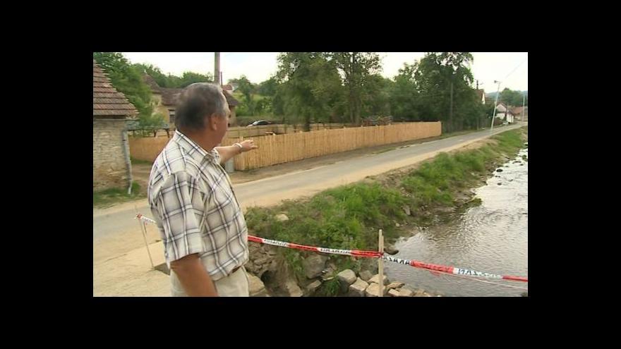 Video Starosta Karel Navrátil (nez.) popisuje následky velké vody