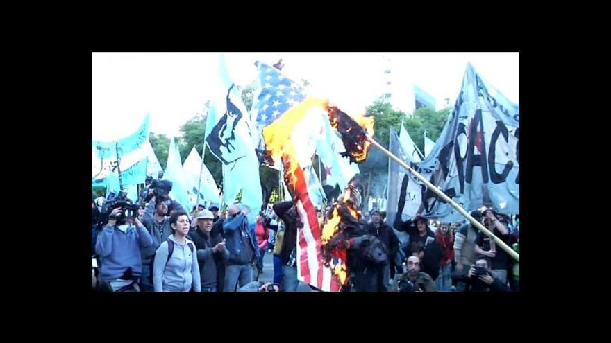 Video Bouře Argentinců proti Chevronu