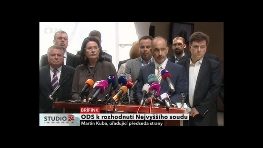 Video ODS k rozhodnutí Nejvyššího soudu