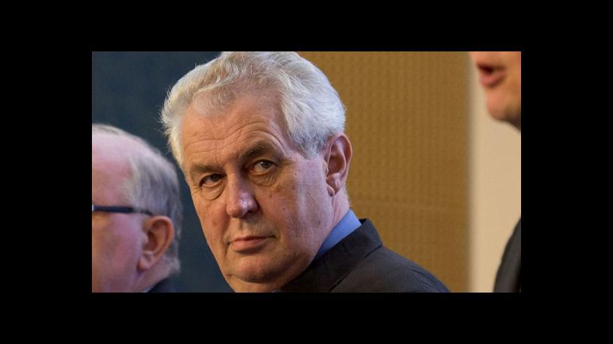 Video Miloš Zeman k politické situaci