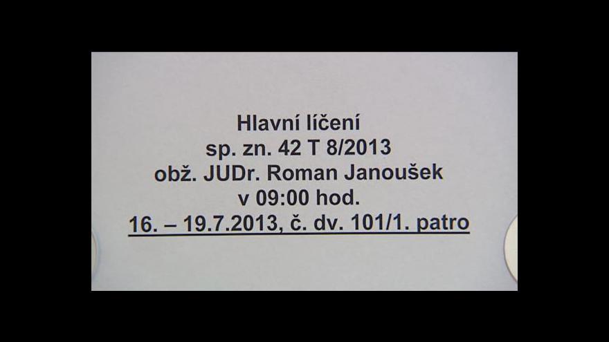 Video Vyjádření advokáta Josefa Lžičaře