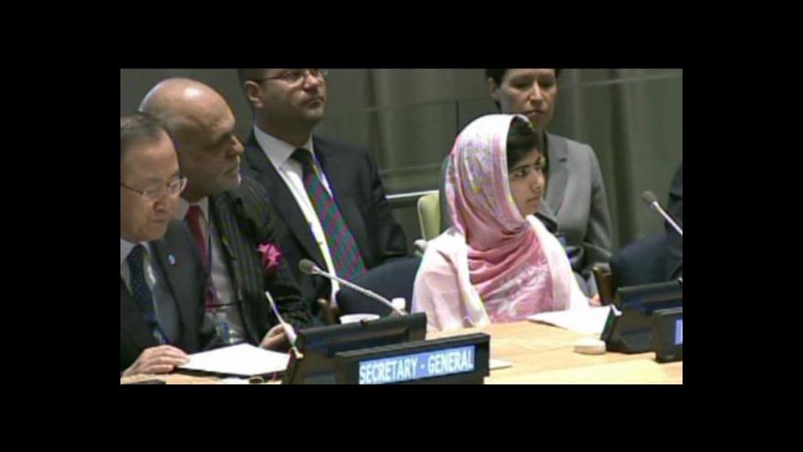 Video Malala promluvila v OSN