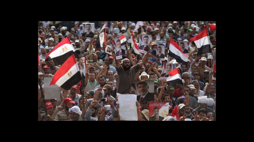 Video Mursího přívrženci se sešli u prezidentského paláce