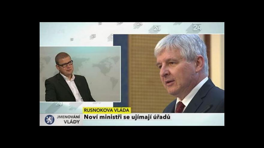 Video Komentáře Jindřicha Šídla k ujímání úřadů novými ministry