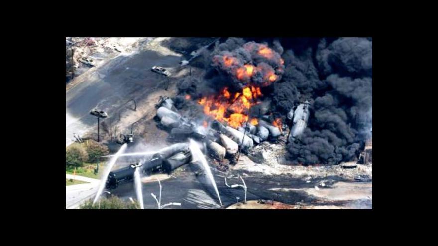 Video Kanadská policie předpokládá, že při havárii nákladního vlaku zemřelo všech 50 pohřešovaných