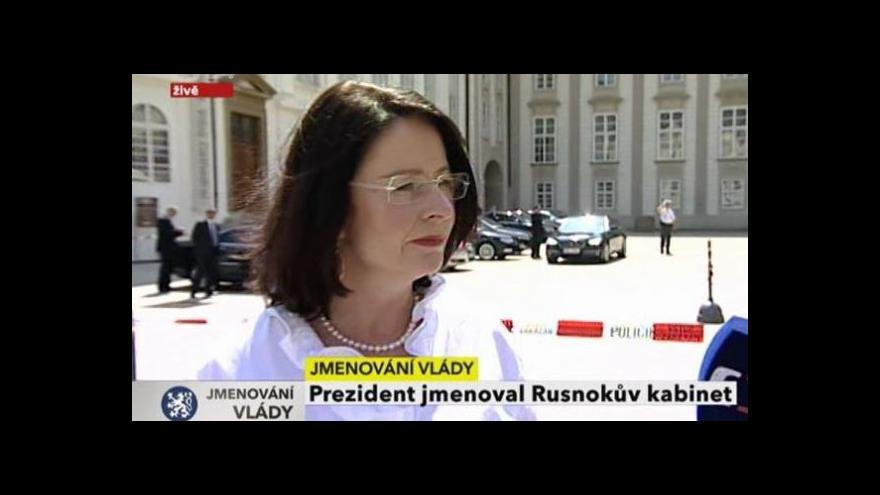 Video Vyjádření Miroslavy Němcové
