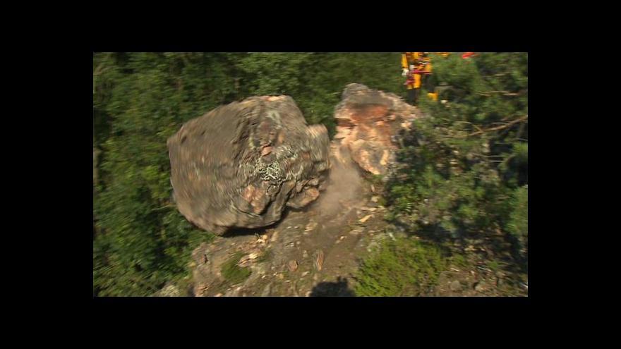 Video Odstřel skal v Šárce