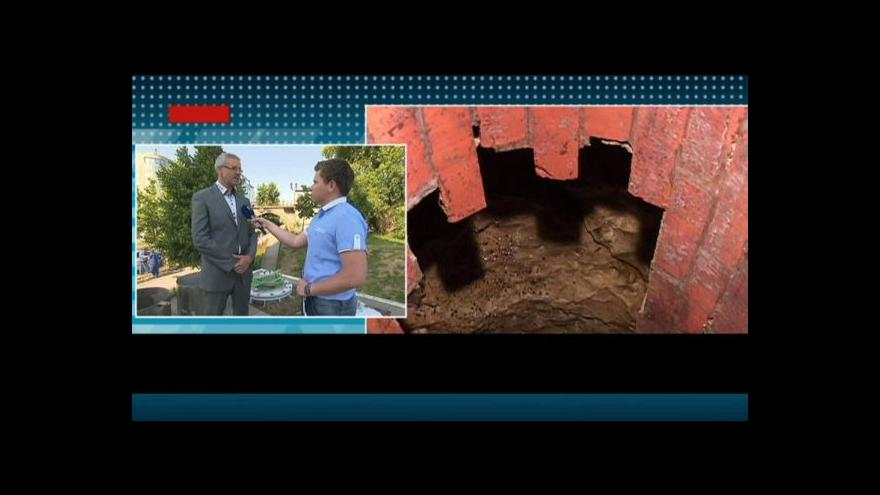 Video Ladislav Šticha a Michal Dolejš o povodňových škodách v kanalizaci
