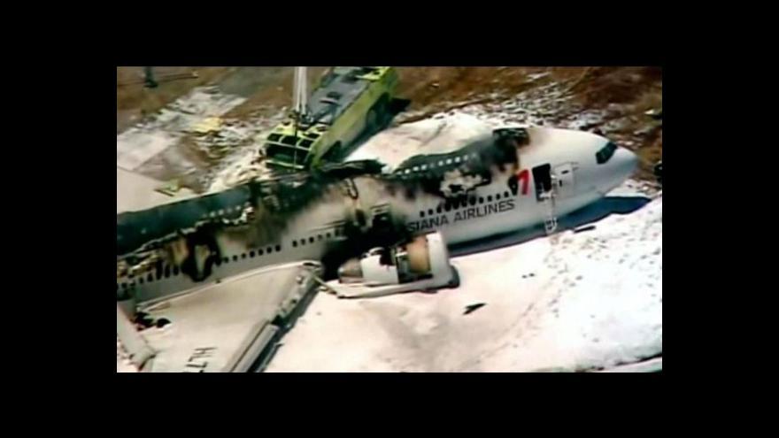 Video Martin Velek o nehodě na letišti v San Francisku